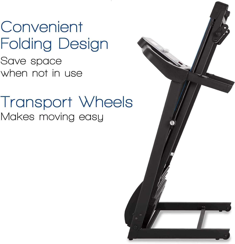 xterra fitness tr150 folding treadmill black description