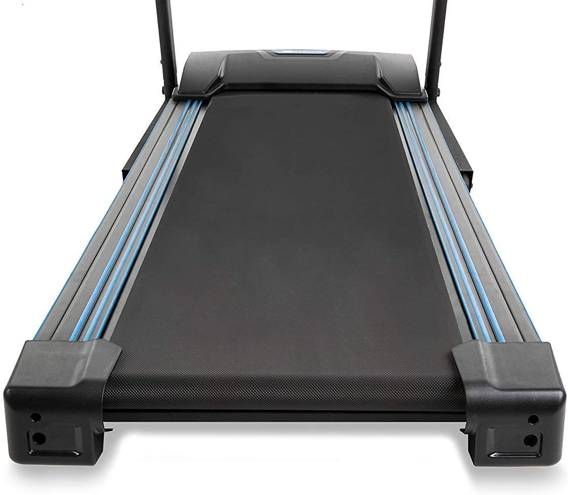 xterra fitness tr150 folding treadmill landing view