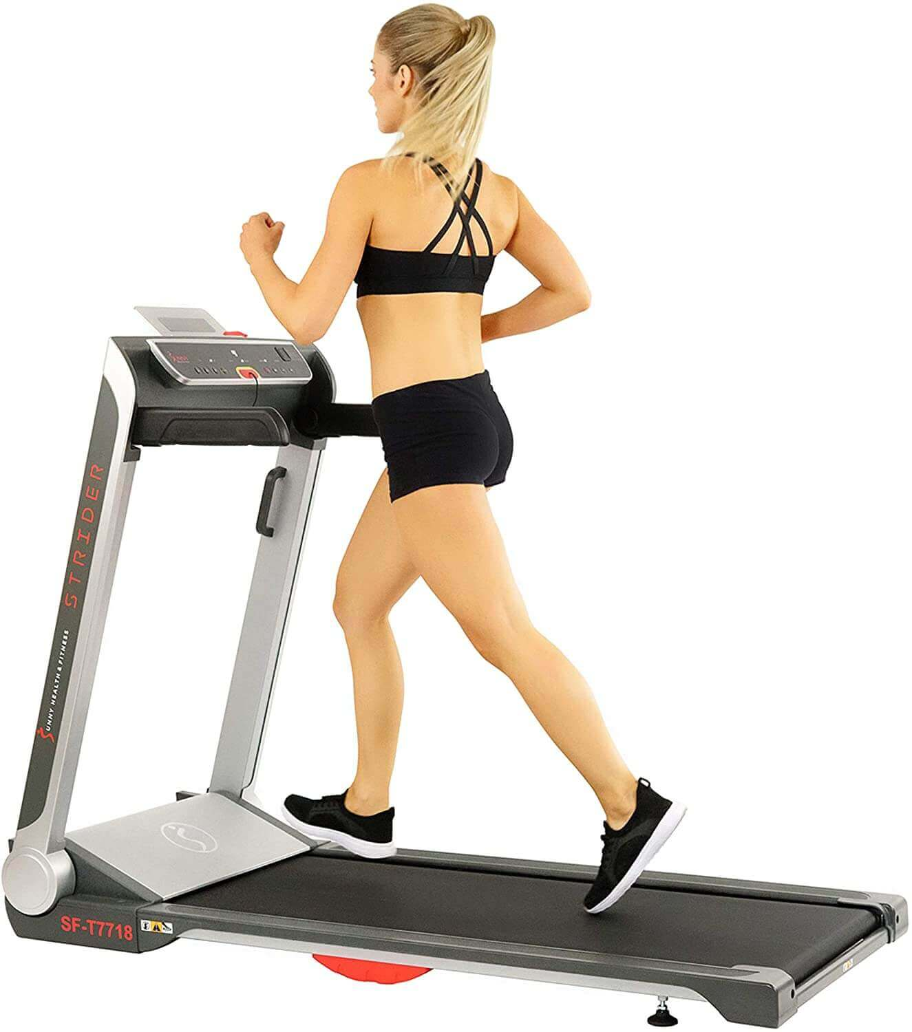 Sunny Health and Fitness Electric Slim Folding Running Treadmill