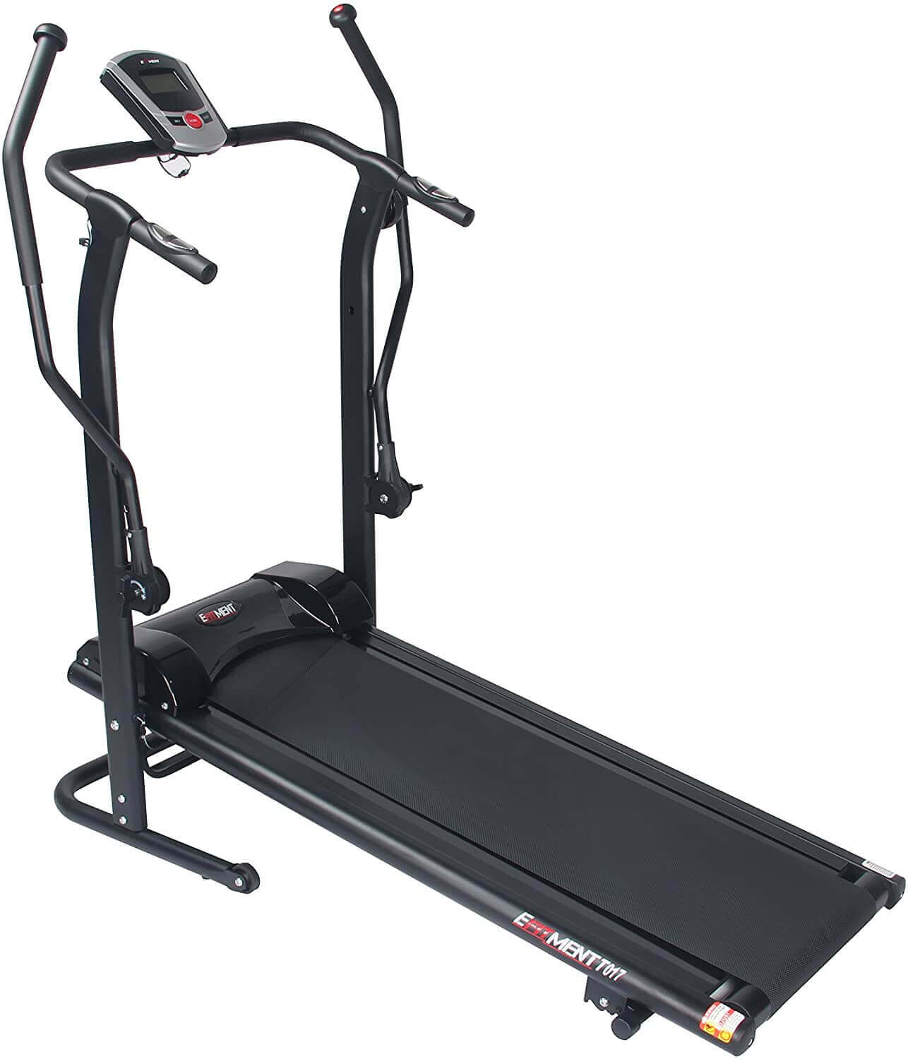 EFITMENT Magnetic Manual Treadmill w/Pulse Monitor and Adjustable Incline