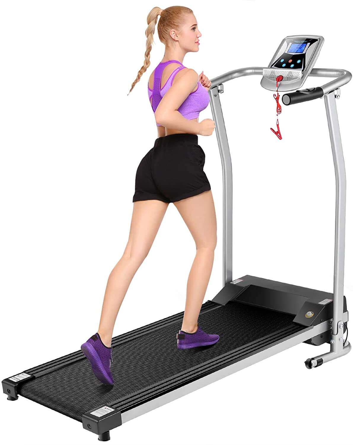 Mauccau Folding Treadmill with LCD Display Exercise Machine - for Home