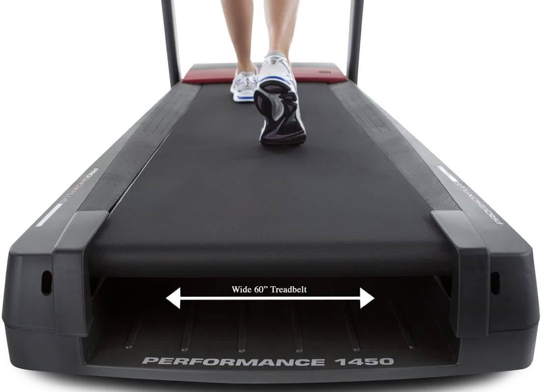 ProForm Performance 1450 Treadmill handel and deck