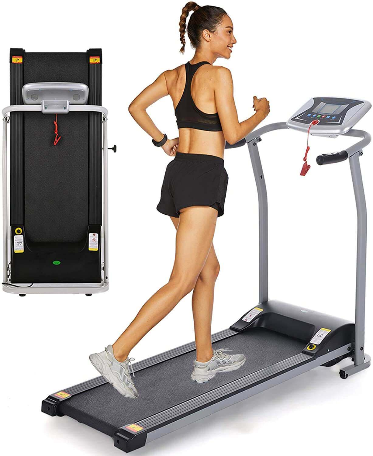OppsDecor Folding, Motorized, Electric Treadmill Exercise Machine  - for Home