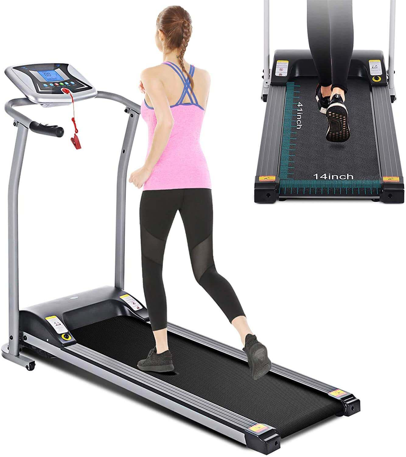 Mauccau Motorized, Electric, Folding, Portable Treadmill for Home - Low Noise