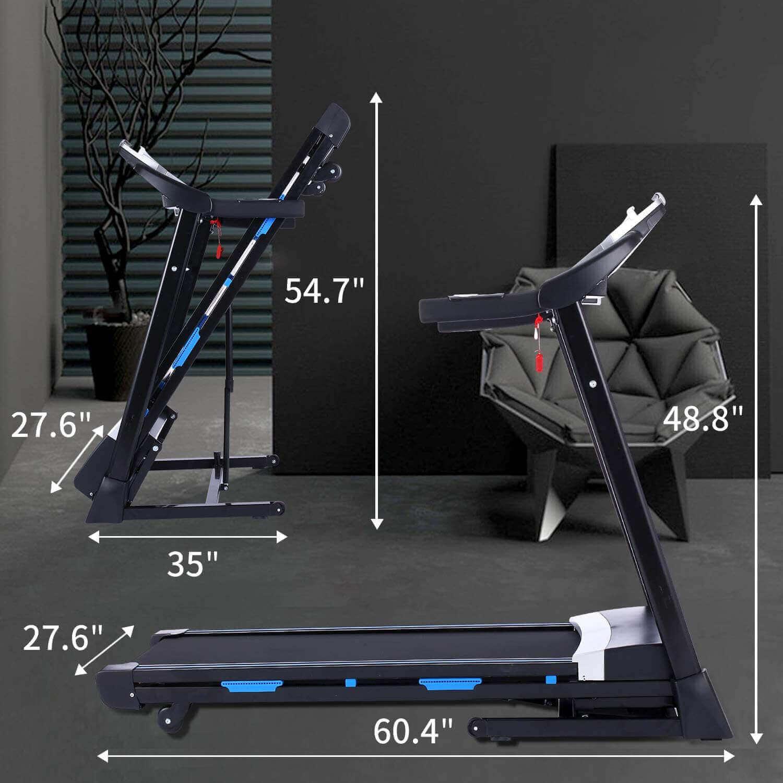ANCHEER 3.25HP Folding Treadmill Functionality