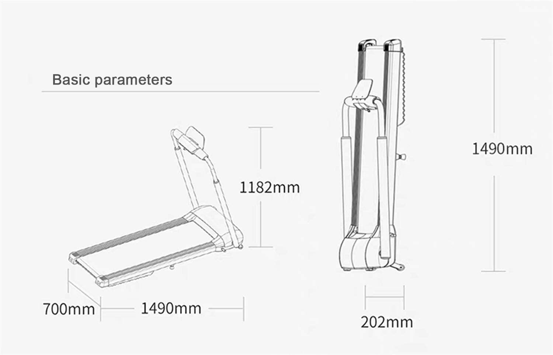 TOE Treadmills Foldable motor and functionality